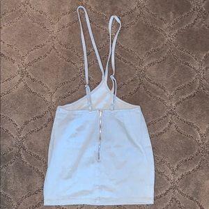 Denim overall skirt one piece